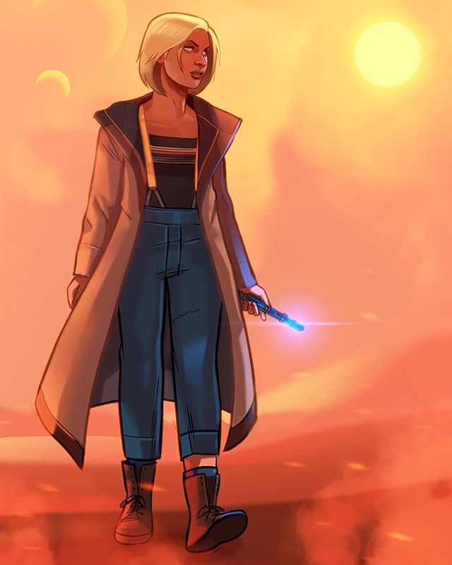 Love it! regram @artworkofstephenbyrne Who is she. #dw #doctorwho #fanart #the13thdoctor #whovians