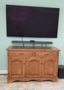 Entertainment buffet for Wall mounted TV