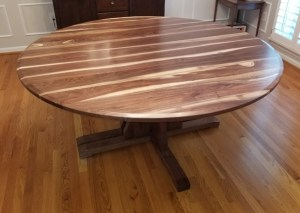 round split pedestal extension table
