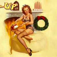 Gil Elvgren Christmas Pin-Up