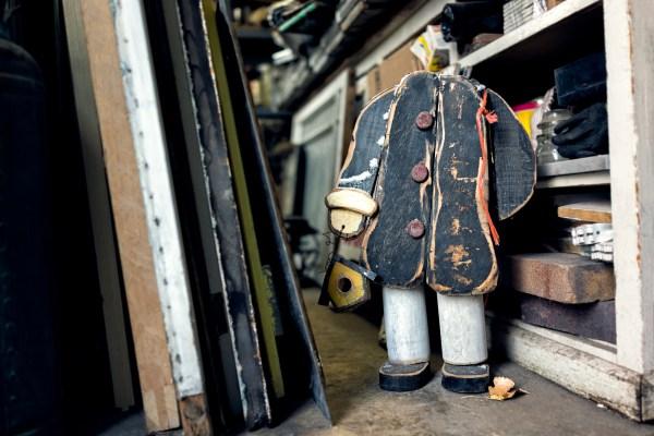 Headless wooden man