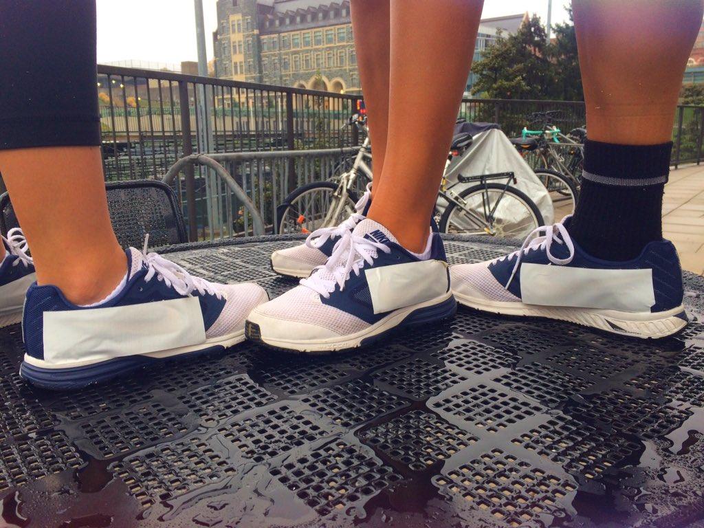 Student-athletes cover up Nike logo on university-provided equipment