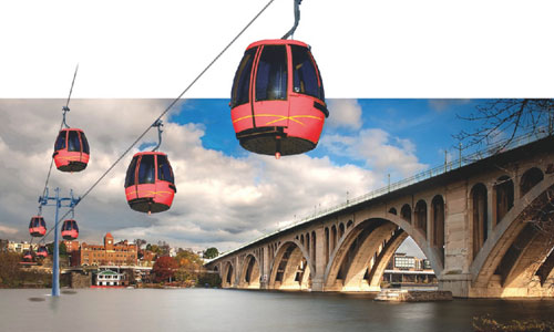 The Arlington County Board denies funds to Georgetown-Rosslyn gondola