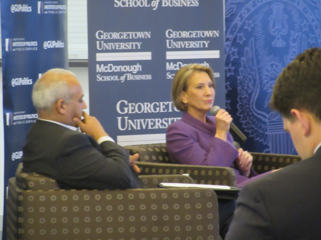 Fiorina talks candidacy, leadership with GU Politics