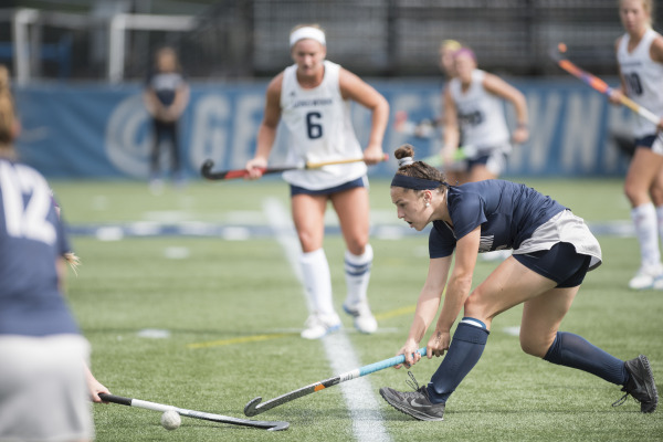 Stick-ing Together: Field Hockey uses collective effort to down Longwood University