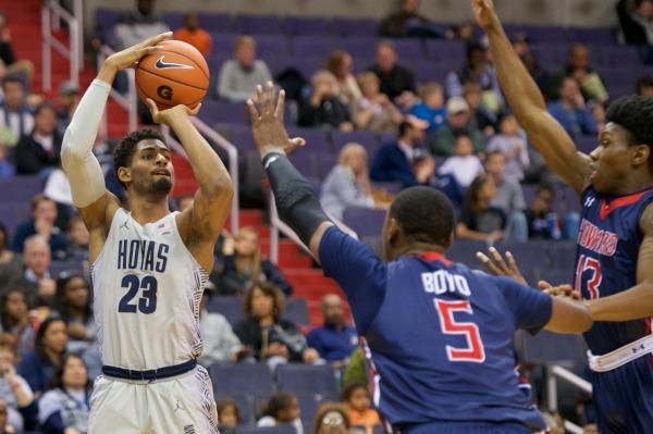 Home Sweet Home: Men's basketball picks off Howard in return to Verizon Center