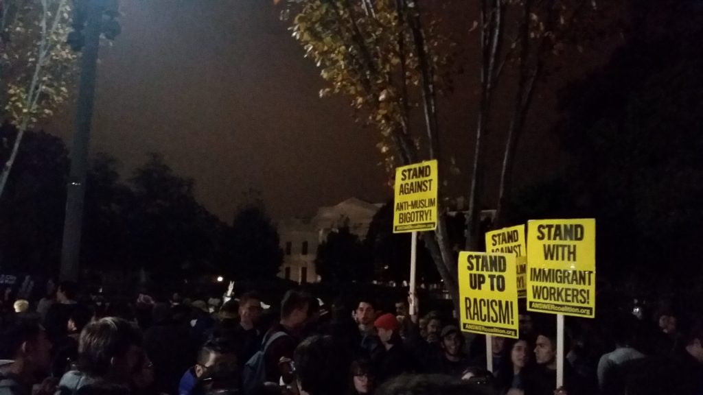 As Trump wins, Georgetown students gather at White House