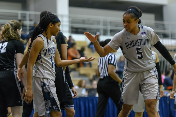 Friared up: Women's basketball finishes the regular season with an emphatic win