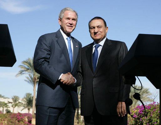 Image result for hosni mubarak and george bush