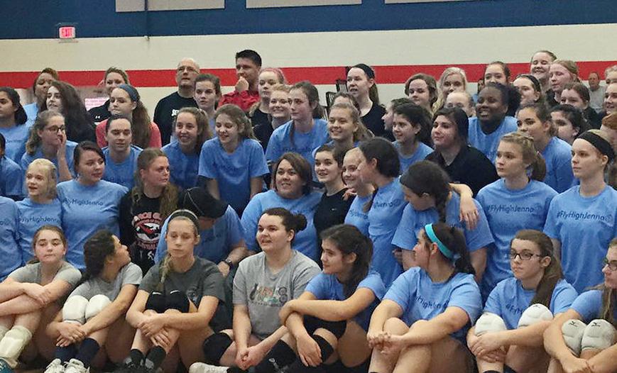 Memorial for Jenna, Georgia Adrenaline Volleyball Club