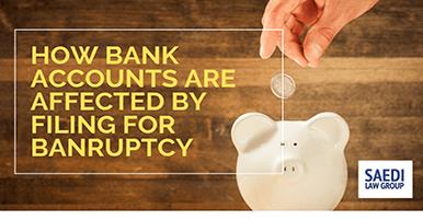 bank accounts bankruptcy piggy bank