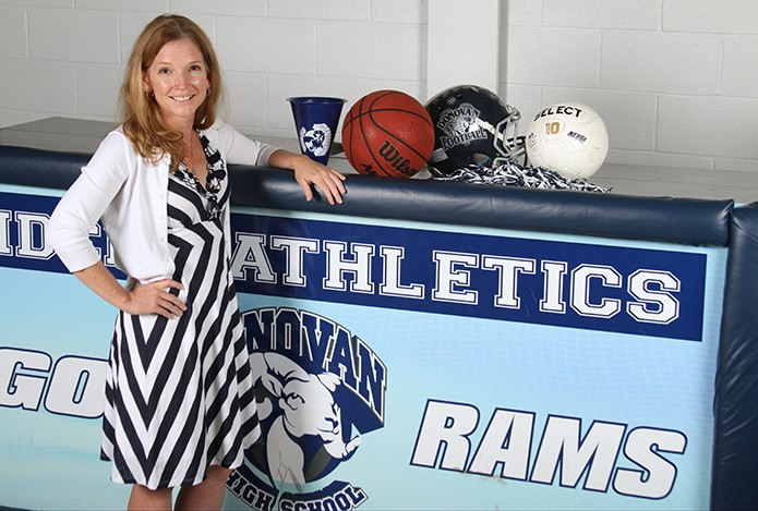 Monsignor Donovan High School, Athens, welcomes Wynter Kelly as its new athletic director for the 2015-2016 school year. Kelly came from La Salle Academy in Providence, R.I., where she was the school's dean of students. She also coached basketball and lacrosse.