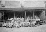 Photograph of Bond Academy, Bond Community, Madison County, Georgia, ca. 1905.