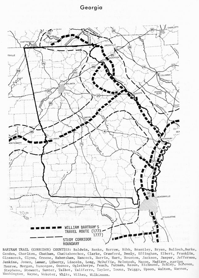 bartram trail map