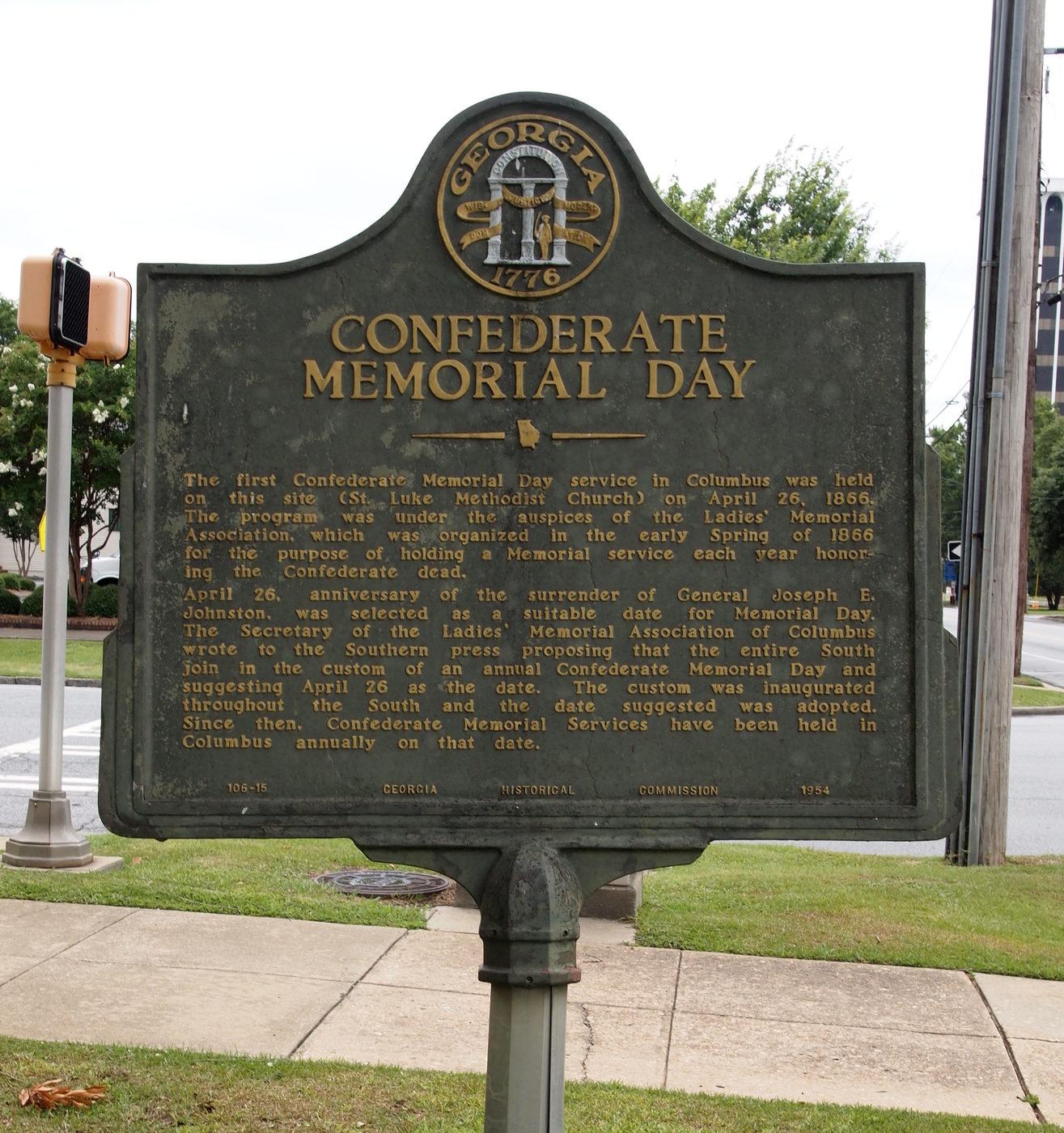 Confederate Memorial Day Muscogee County Georgia