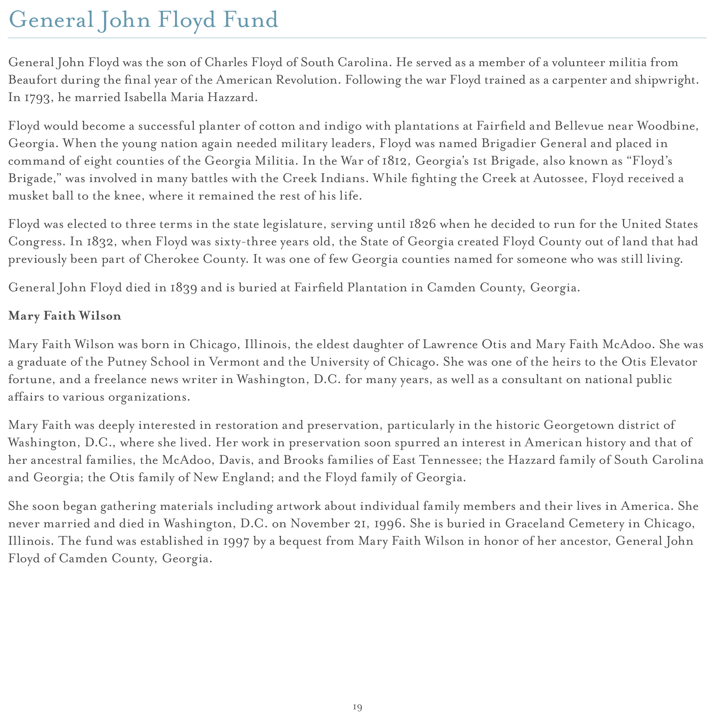 Mutual Fund Accountant Cover Letter Endowment Campaign Georgia Historical Society