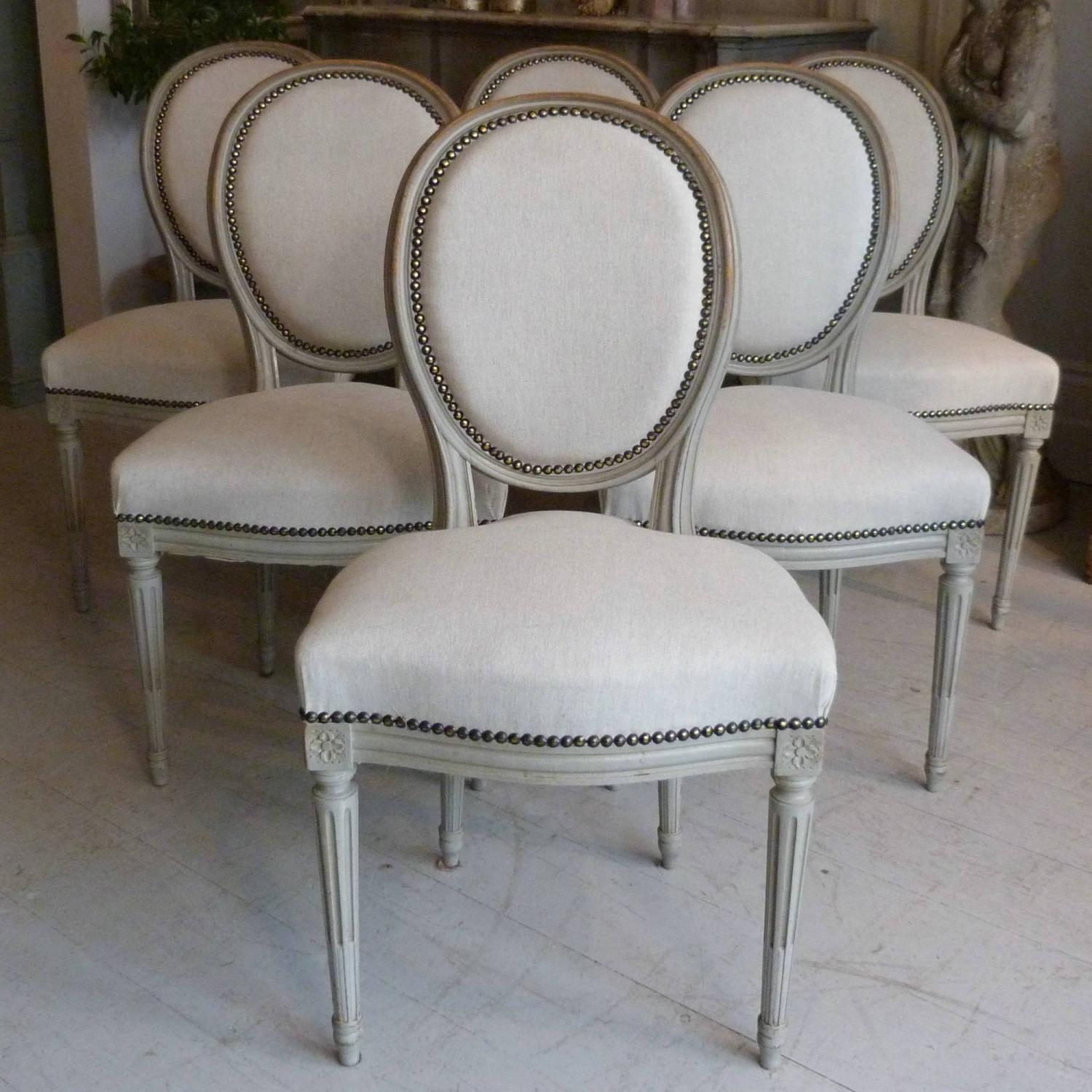 French Dining Chairs Set Of Six 19th Century French Louis Xvi Dining Chairs In
