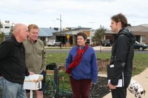 Lloyd Davies speaks to residents in Torquay.