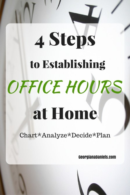 Are you struggling to find balance while working at home? Establishing office hours is key to having a successful work life and personal life. Here I give you 4 steps to establishing office hours. https://georgianadaniels.com/hours