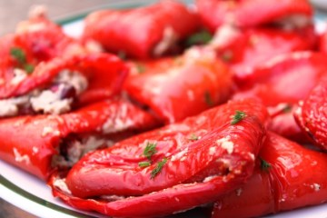 Roasted Red Peppers with Walnut Paste (bulgaruli nigvzit ბულგარული ნიგვზით)