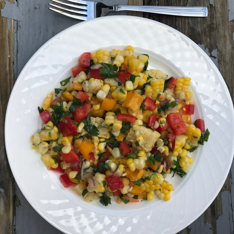 corn and red pepper salad