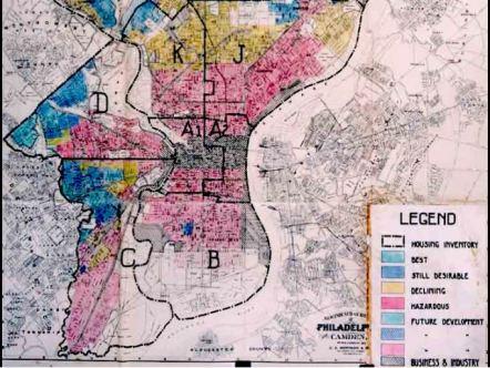 1936 Security Map of Philadelphia (Wikipedia: Redlining)