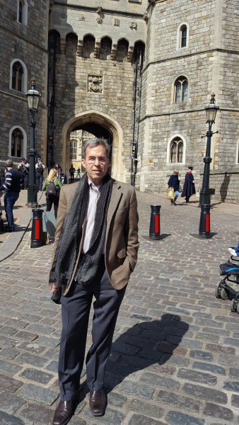 Atkinson at Henry VIII Gate, Windsor Castle, April 2016
