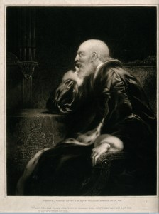 King George III by Samuel Reynolds. 1820.