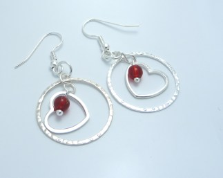 Silver Plated Valentine earrings