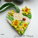 Polymer Clay Mothers Day Heart