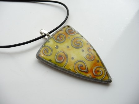Pendant using Citrus & Sunset Orange inks
