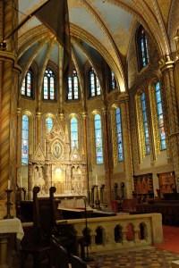 Baroque interior, small windows were common in older churches