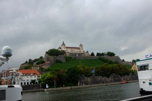 Our docking spot with a view of the Marienberg Fortress