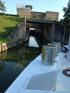 Entering a narrow lock