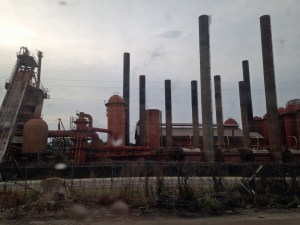 Another view of the long abandoned Sloss Furnaces.