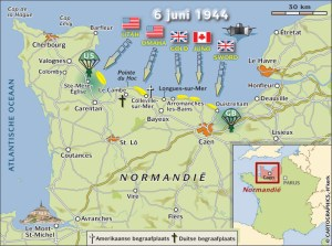 The map gives you an idea of where the landings took place,