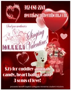 Singing Valentine Order Form GeorgiaSouthernBCM