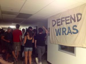 WRAS supporters peacefully protesting