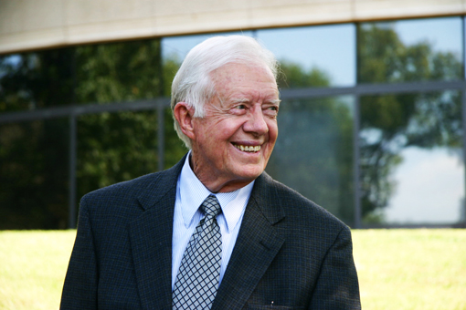 Former President Jimmy Carter turns to his Christian faith during this hard time.  Submitted Photos by Rick Diamond | The Carter Center