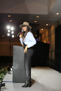 Jackie Cruz spoke to students at the Georgia State University Center to positively impact their life decisions. October 26th, Monday, 2015 Photo by: Jason Luong