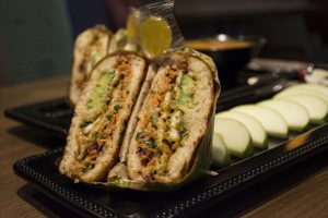 An Asian Chicken Crunch panini offered as an entree at Fresh to Order. Photo by Jade Johnson | The Signal