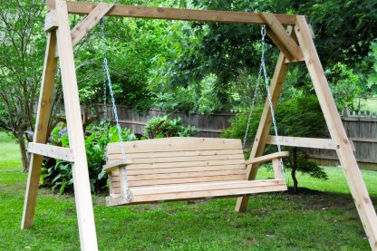 Wood Swing and Stand