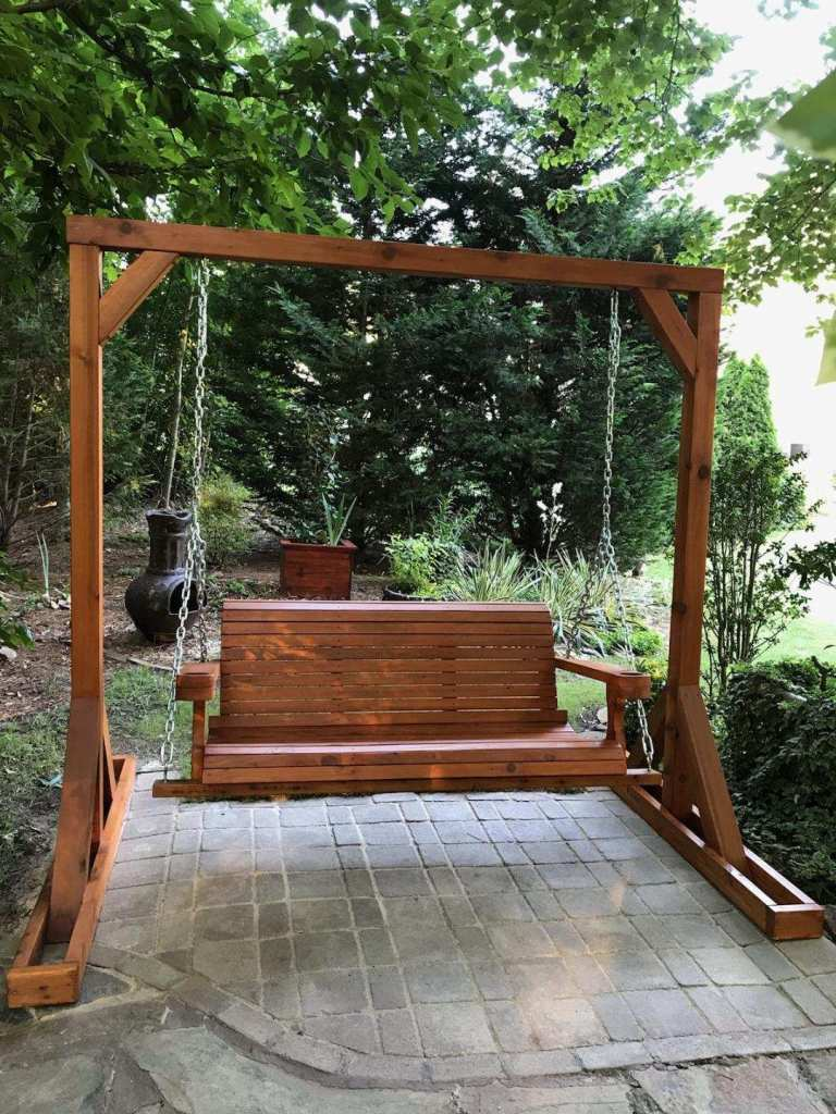 Patio Porch Swing in a Garden
