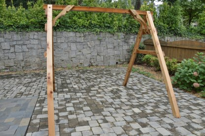 swing a frame cedar stand