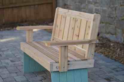 Unfinished Cedar Porch Swing Flat Seat