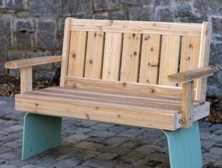 Atlanta Wooden Cedar Porch Swing