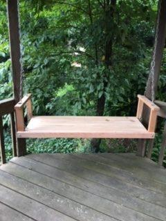 Custom Cedar Bench Swing