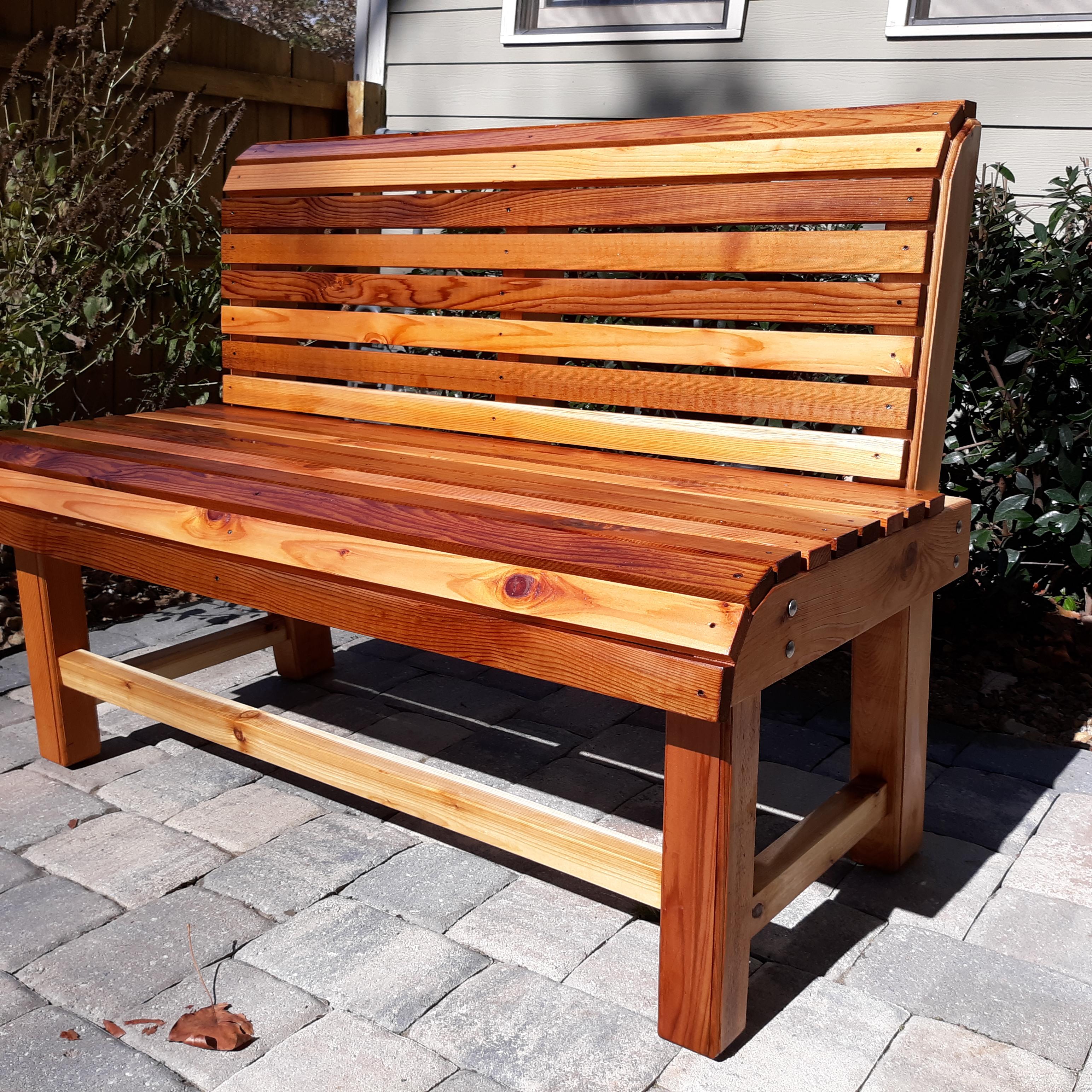 The Midtown Wood Bench Georgia Swings