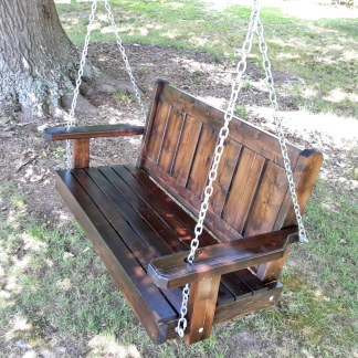 Modern Cedar Porch Swing