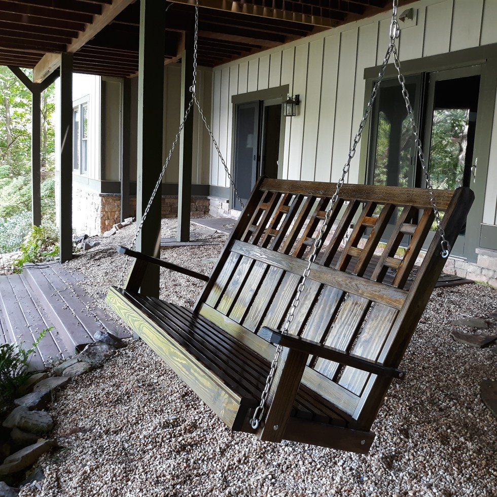 Custom Porch Swing High Backrest